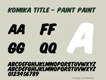 Komika Title - Paint