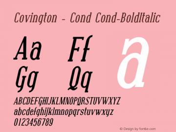 Covington - Cond