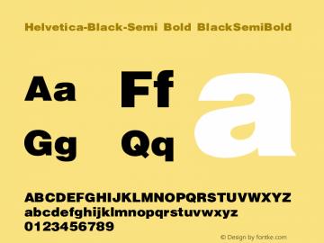 Helvetica-Black-Semi Bold