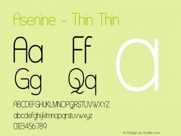 Asenine - Thin