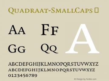 Quadraat-SmallCaps