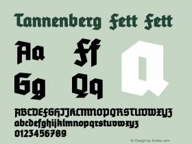 Tannenberg Fett