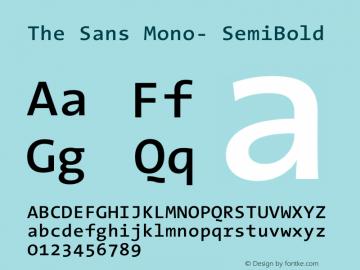 The Sans Mono-