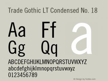 Trade Gothic LT