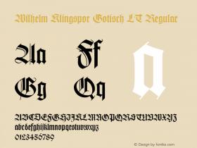 Wilhelm Klingspor Gotisch LT
