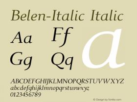 Belen-Italic