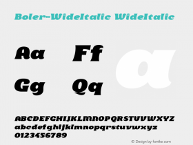 Boler-WideItalic
