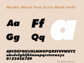 Weekly World Font
