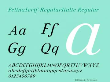FelinaSerif-RegularItalic