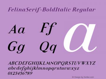 FelinaSerif-BoldItalic