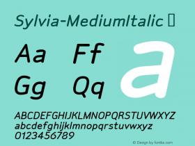 Sylvia-MediumItalic