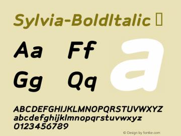 Sylvia-BoldItalic