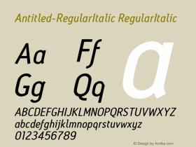 Antitled-RegularItalic