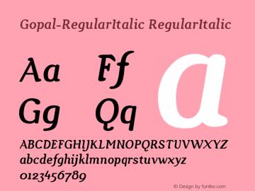 Gopal-RegularItalic