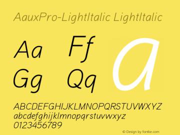 AauxPro-LightItalic