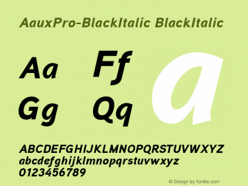 AauxPro-BlackItalic
