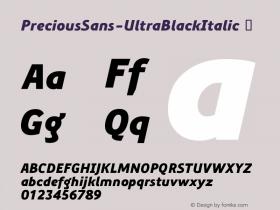 PreciousSans-UltraBlackItalic