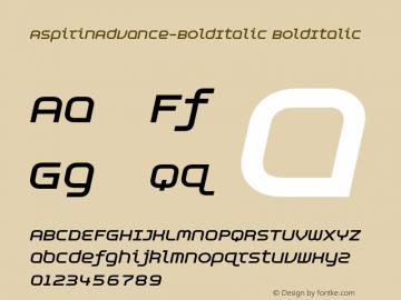AspirinAdvance-BoldItalic