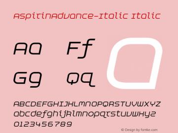 AspirinAdvance-Italic