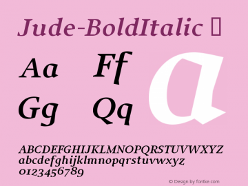 Jude-BoldItalic