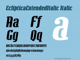 EclipticaExtendedItalic