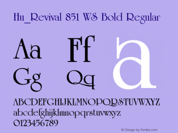 Hu_Revival 851 WS Bold