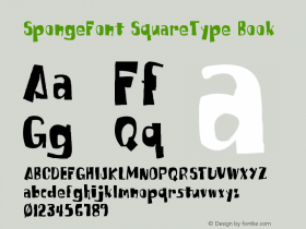 SpongeFont SquareType
