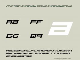 Stuntman Expanded Italic