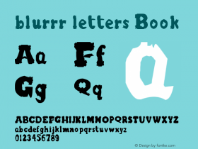blurrr letters