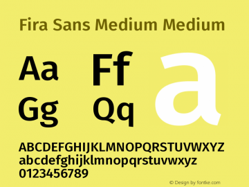 Fira Sans Medium