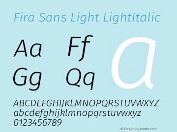 Fira Sans Light