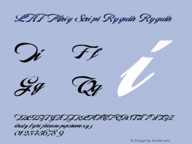 LHF Marie Script Regular