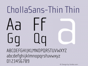 ChollaSans-Thin