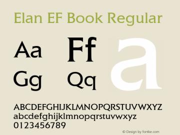 Elan EF Book