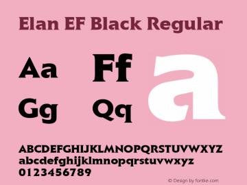 Elan EF Black