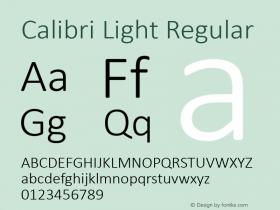 Calibri Light
