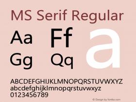 MS Serif