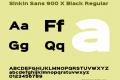 Sinkin Sans 900 X Black