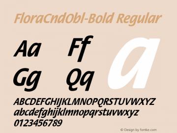FloraCndObl-Bold