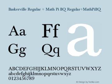 Baskerville Regular + Math Pi BQ