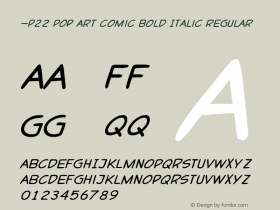 P22 Pop Art Comic Bold Italic