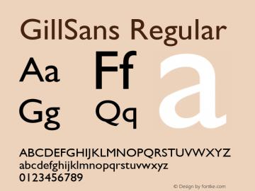 GillSans