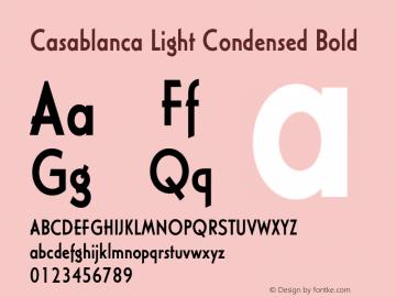 Casablanca Light Condensed