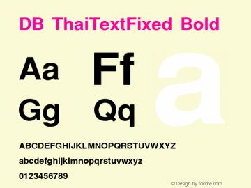 DB ThaiTextFixed