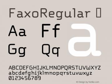 FaxoRegular