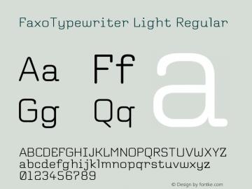 FaxoTypewriter Light