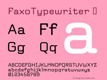FaxoTypewriter