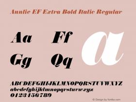Annlie EF Extra Bold Italic
