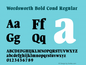 Wordsworth Bold Cond