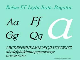 Belwe EF Light Italic